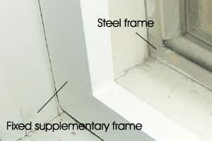 Steel frames window insulation