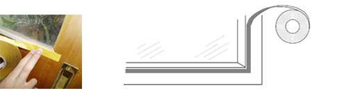 Step 1 installation ClearComfort window insulation
